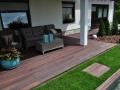 Lesena terasa - kotiček za posedanje